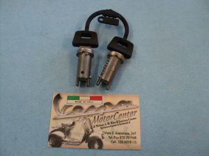KIT SERRATURA BLOCCASTERZO BAULETTO SELLA VESPA 50 125 150 SCOOTER PIAGGIO