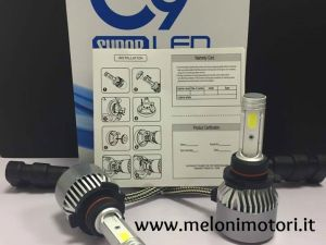 C9 SUPER LED - KIT FULL LED CANBUS H7 7600 LUMEN 6000K BIANCO GHIACCIO
