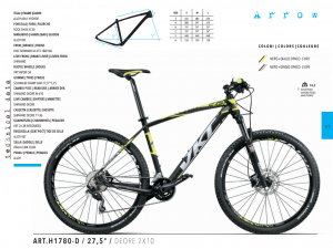 MTB MOUNTAIN BIKE MONTANA 27,5 NUOVA DEORE 2x10