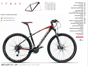 MTB MOUNTAIN BIKE MONTANA 29 ACERA 3x9