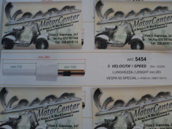 TUBO COMANDO CAMBIO 3 VELOCITA' VESPA 50 SPECIAL