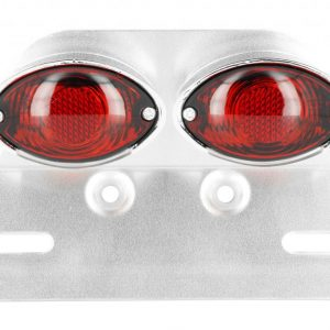 fanale posteriore doppio ovale + portatarga universale