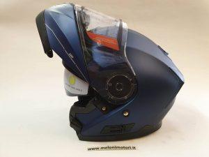 casco modulare doppia visiera blu opaco predisposizione pinlock