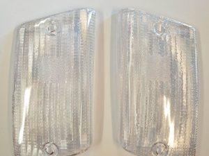 coppia gemme posteriori trasparenti bianche vespa pk xl