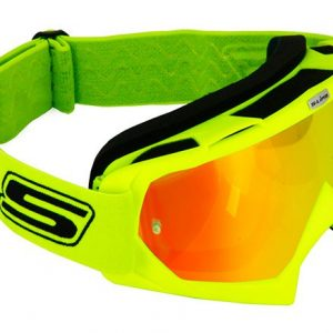 maschera motocross luc1 lente iridio sfumata arancione/trasparente