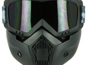 Maschera integrale s-line urban city nera con occhiale scuro e elastico mimetico