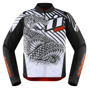 giacca moto da strada motard enduro icon overlord sb2 serpecant