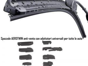 """Spazzola tergicristallo aerotwin alta qualità con adattatori misura 53 cm/21"""""""