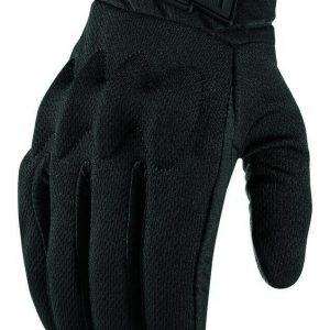 guanti in pelle moto da strada enduro motard icon anthem 2 stealth glove