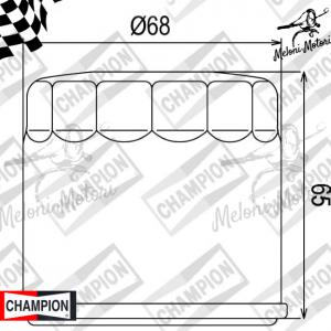 cof 038 filtro olio champion kawasaki klv 1000 2004 2005