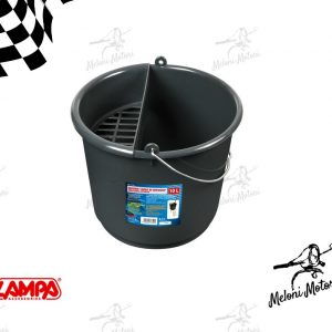 Area di Servizio secchio lavaggio auto carwash 10 litri con porta spugna e bordi rinforzati